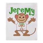 Little Monkey Jeremy Throw Blanket