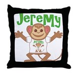 Little Monkey Jeremy Throw Pillow