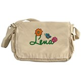 Lena Flowers Messenger Bag