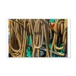 USS Constitution - Ropes for 22x14 Wall Peel