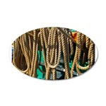 USS Constitution - Ropes for 22x14 Oval Wall Peel