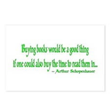 Buying books would be a good thing... Postcards (P