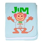 Little Monkey Jim baby blanket