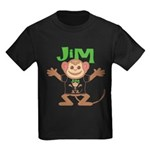 Little Monkey Jim Kids Dark T-Shirt
