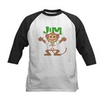 Little Monkey Jim Kids Baseball Jersey