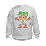 Little Monkey Jim Kids Sweatshirt