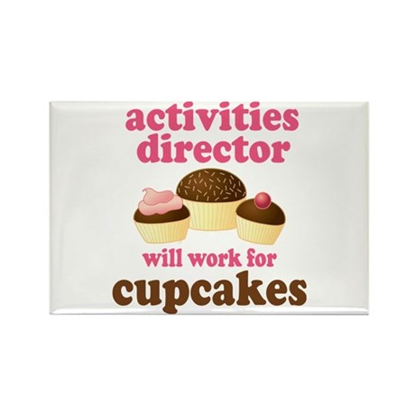Funny Activities Director Rectangle Magnet