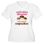 Funny Activities Director Women's Plus Size V-Neck