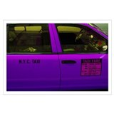 """NYC Purple Taxi"" Print 23x33"""
