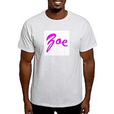 Cursive Curve Zoe Ash Grey T-Shirt