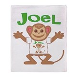Little Monkey Joel Throw Blanket
