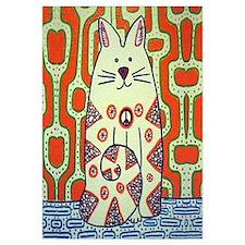 Peace Cat Original Funky Art