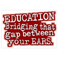 Maroon, Education Bridging The Gap Small Framed Pr