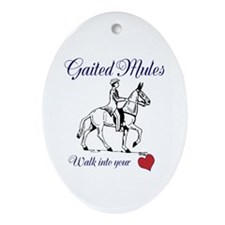 Walking Mules Ornament (Oval)