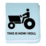 How I Roll baby blanket