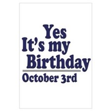 October 3rd Birthday