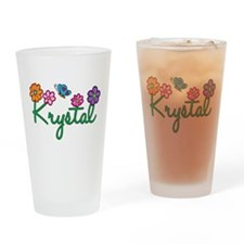 Krystal Flowers Drinking Glass