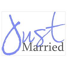 Just Married (Blue Script)