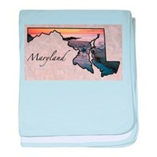 Cute Maryland baby blanket