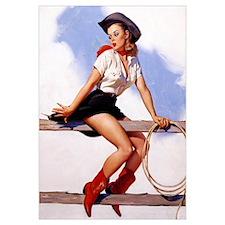 Sittin Pretty Elvgren Vintage Cowgirl