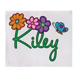 Kiley Flowers Throw Blanket