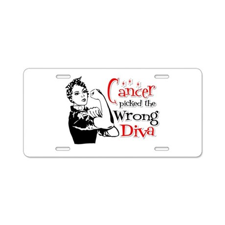 Wrong Diva Retinoblastoma Aluminum License Plate