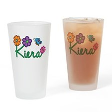 Kiera Flowers Drinking Glass