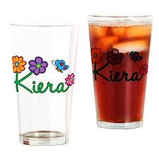 Kiera Flowers Drinking Glass