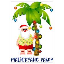 Cute Maligayang pasko Wall Art