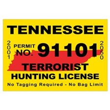 Terrorist hunting license gifts merchandise terrorist for Tennessee fishing license online