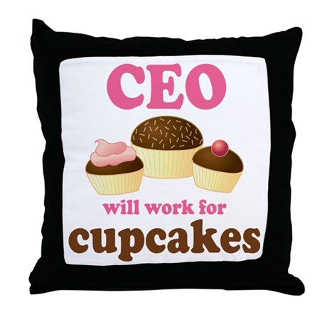 Funny Ceo Throw Pillow