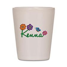 Kenna Flowers Shot Glass