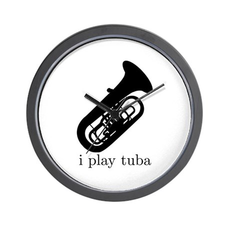 I Play Tuba Wall Clock