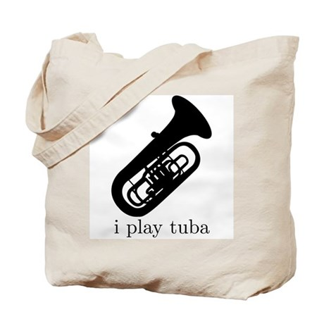 I Play Tuba Tote Bag