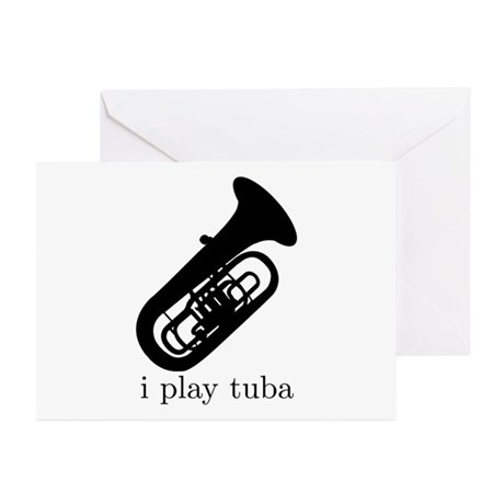 I Play Tuba Greeting Cards (Pk of 10)