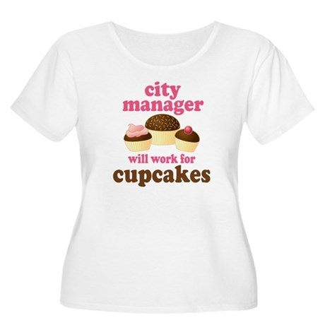 Funny City Manager Women's Plus Size Scoop Neck T-