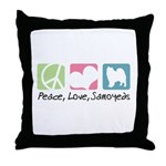 Peace, Love, Samoyeds Throw Pillow