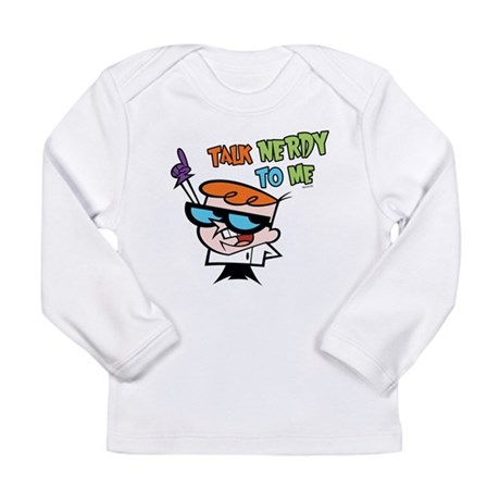 Dexter's Lab Talk Nerdy Long Sleeve Infant T-Shirt