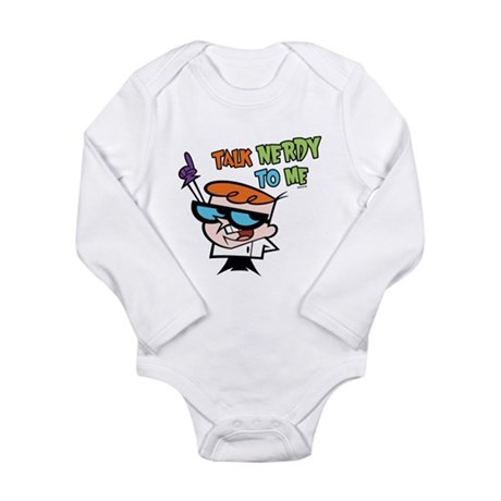Dexter's Lab Talk Nerdy Long Sleeve Infant Bodysui