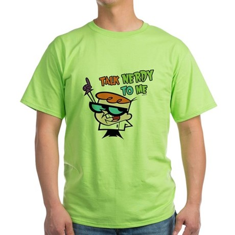 Dexter's Lab Talk Nerdy Green T-Shirt