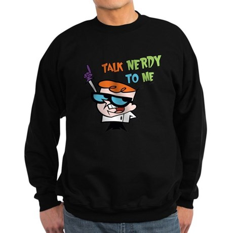 Dexter's Lab Talk Nerdy Dark Sweatshirt