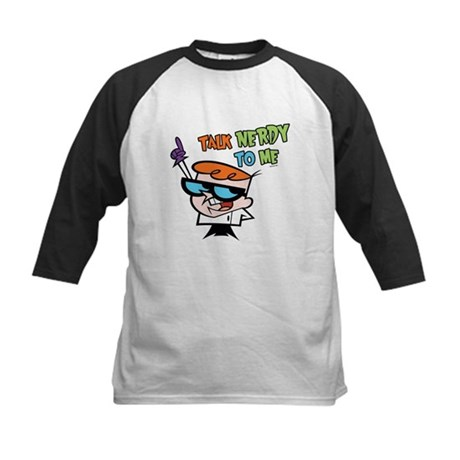 Dexter's Lab Talk Nerdy Kids Baseball Jersey