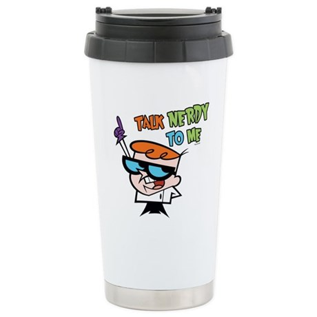 Dexter's Lab Talk Nerdy Ceramic Travel Mug