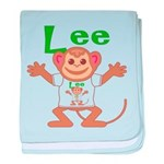 Little Monkey Lee baby blanket