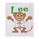 Little Monkey Lee Throw Blanket