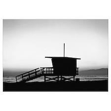 Lifeguard Shack at Sunset 14x10 Print