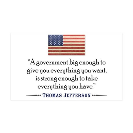 Thomas Jefferson: Government 38.5 x 24.5 Wall Peel