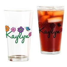 Kaylyn Flowers Drinking Glass