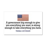 Jefferson: Anti Big Governmen Car Magnet 20 x 12