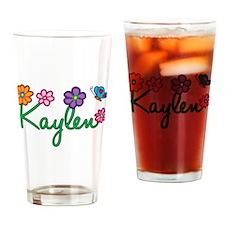 Kaylen Flowers Drinking Glass